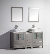 Vanity Art - Bathroom Vanity Set - VA3124-60G - Grey