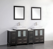 Vanity Art - Bathroom Vanity Set - VA3124-72E - Espresso