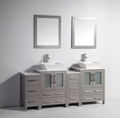 Vanity Art - Bathroom Vanity Set - VA3124-72G - Grey