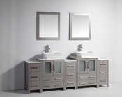 Vanity Art - Bathroom Vanity Set - VA3124-84G - Grey