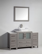 Vanity Art - Bathroom Vanity Set - VA3130-54G - Grey