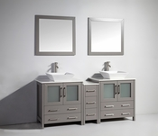 Vanity Art - Bathroom Vanity Set - VA3130-72G - Grey