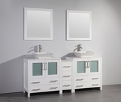 Vanity Art - Bathroom Vanity Set - VA3130-72W - White