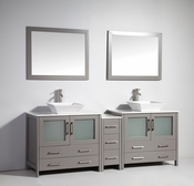 Vanity Art - Bathroom Vanity Set - VA3136-84G - Grey