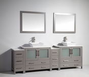 Vanity Art - Bathroom Vanity Set - VA3136-96G - Grey