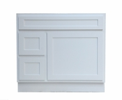 Vanity Art - Ready to Assemble Cabinet - VA4036-2LW - White