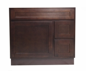 Vanity Art - Ready to Assemble Cabinet - VA4036-2RB - Brown