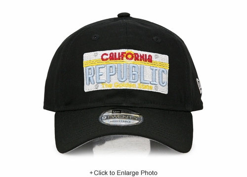 California Republic The Golden State License Plate Jet Black New Era Dad Hat