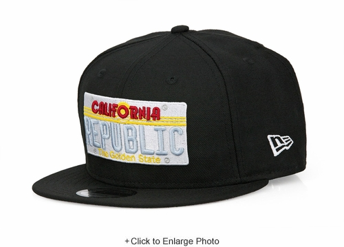 California Republic The Golden State License Plate New Era 9FIFTY Snapback Hat