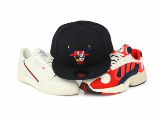 Chicago Bulls Nautical Flags Adidas Continental 80 / Yung-1 New Era Snapback Hat