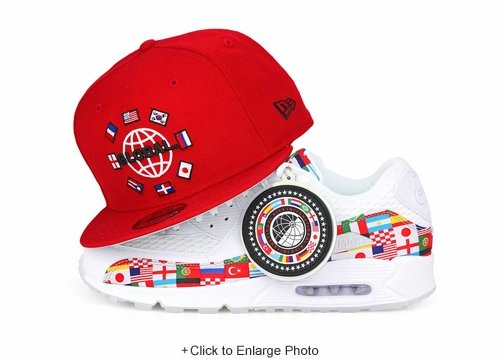 Homage to Global 2018 World Cup Russia Inspired Scarlet New Era Snapback