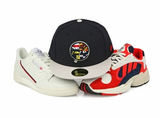 New York Yankees Nautical Flags Adidas Continental 80 / Yung-1 New Era Fitted Cap