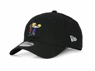 Nickelodeon Hey Arnold! Arnold and Gerald Jet Black New Era 9TWENTY Dad Hat