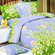 [Dandelion Dream] 100% Cotton 3PC Mini Duvet Cover Set (King Size)