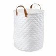 Foldable White Storage Bin Closet Toy Box Container Organizer Fabric Basket