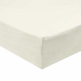 Twin Extra Long Fitted Sheet 340 Thread Count 100% Cotton - Ivory