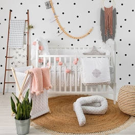[Willow White]4 Pc Crib Bedding Set Crib Bedding Collection