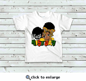 Black History Girl T-Shirt