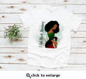 I Am Black Herstory Africa T-Shirt
