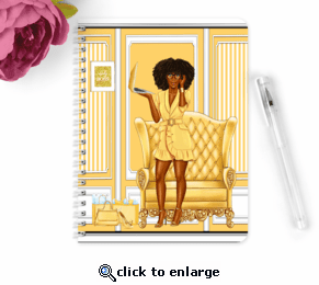 Lady Boss In Gold Composition Notebook