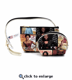 Michelle Obama 3 in 1 Cosmetic Bags