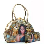 Michelle Obama Jewel Top Royalty Purse and Wallet