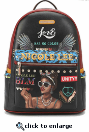 Nicole Lee Latoya Backpack With USB Charger Port