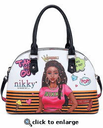 Take Me Out Print Domed Purse