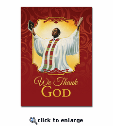 We Thank God Greeting Card