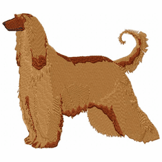 afghan011 Afghan Hound (small or large design)