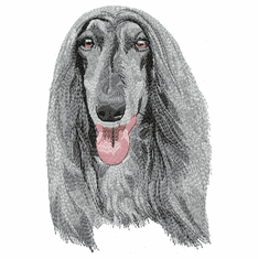 afghan015 Afghan Hound (small or large design)