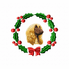 afghan1wreath Afghan Hound (small or large design)