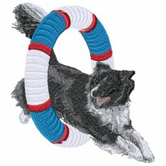 agility001 Agility Dog (small or large design)