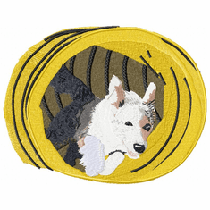 agility007 Agility Dog (small or large design)