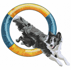 agility009 Agility Dog (small or large design)