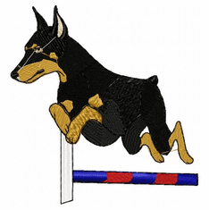 agility021 Agility Dog (small or large design)