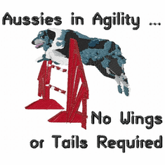 agility022 Agility Dog (small or large design)