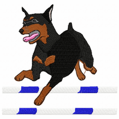 agility043 Agility Dog (small or large design)