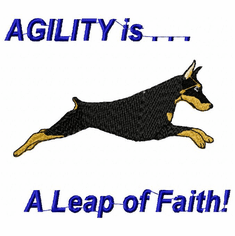 agility051 Agility Dog (small or large design)