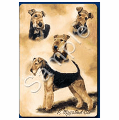 Airedale Playing Cards