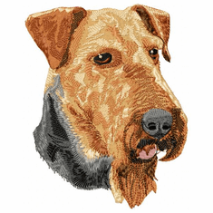 airedale018 Airedale (small or large design)