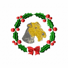 airedale1wreath Airedale (small or large design)