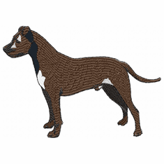 amstaf001 American Staffordshire Terrier (small or large design)