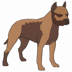 amstaf005 American Staffordshire Terrier (small or large design)