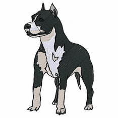 amstaf008 American Staffordshire Terrier (small or large design)
