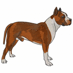 amstaf010 American Staffordshire Terrier (small or large design)