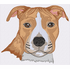 amstaf014 American Staffordshire Terrier (small or large design)