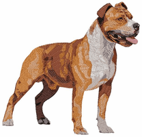 amstaf015 American Staffordshire Terrier (small or large design)