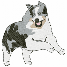 aussie003 Australian Shepherd (small or large design)