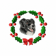 bc1wreath Border Collie (small or large design)